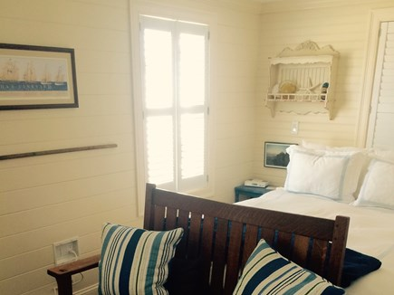 Plymouth MA vacation rental - Master Bedroom w/ private entrance to bath. Flat screen cable TV.