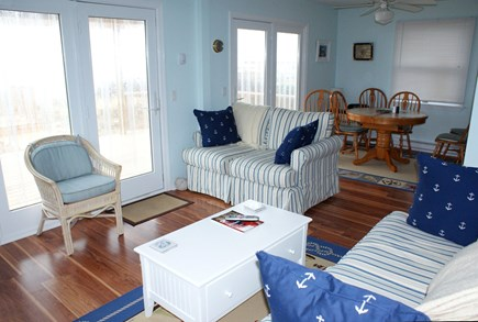 Sandwich, Spring Hill Beach Cape Cod vacation rental - Living opens to deck