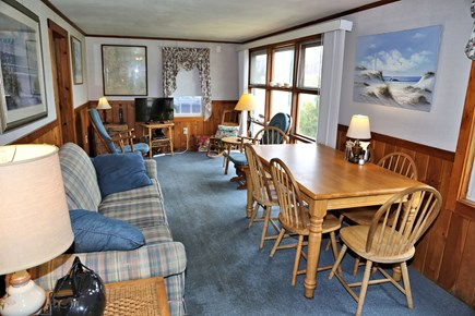 Sandwich, Sagamore Beach Cape Cod vacation rental - Comfortable seating and TV in Living area.