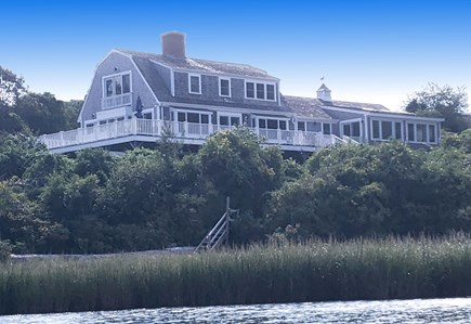 Orleans, Grandview Cape Cod vacation rental - View from Mill Pond, showing private waterfront access