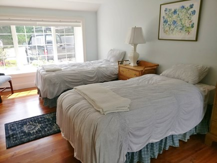 Orleans, Grandview Cape Cod vacation rental - Master Bedroom on main level, configured as two Twins XLs.