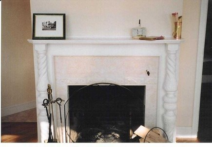 Eastham Cape Cod vacation rental - Fireplace in living room
