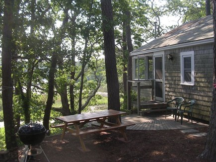 Eastham Cape Cod vacation rental - Entrance to cottage with direct pond views