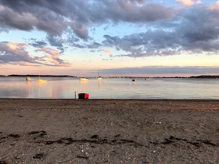 West Yarmouth Cape Cod vacation rental - Sunset view from the beach (1/10 of a mile from the house!)