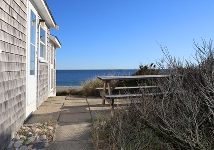 East Sandwich Beach Cape Cod vacation rental - Dune top patio with table