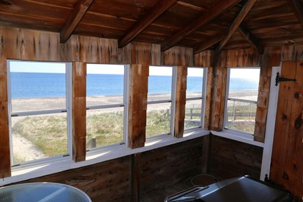 East Sandwich Beach Cape Cod vacation rental - Views from inside porch