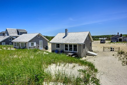 East Sandwich Cape Cod vacation rental - View of Cottage from Beach Path