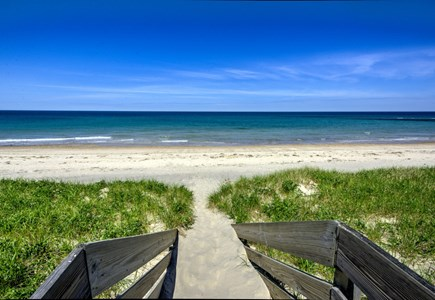 East Sandwich Cape Cod vacation rental - Stairway over Dunes to Association Beach