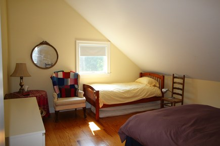 Truro Cape Cod vacation rental - Upstairs Bedroom with Queen bed and Twin Bed