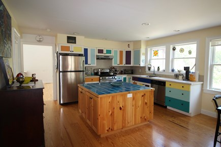 Truro Cape Cod vacation rental - Fully equipped kitchen with island