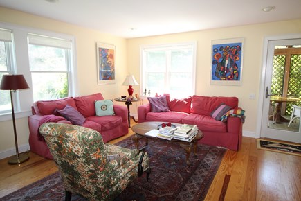 Truro Cape Cod vacation rental - Living room opens to Screen Porch