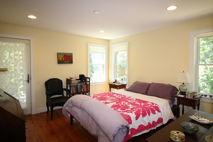 Truro Cape Cod vacation rental - Main Bedroom with Queen Bed opens to Screen Porch