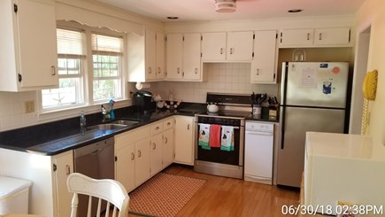 South Yarmouth Cape Cod vacation rental - Kitchen with granite countertops and stainless steel appliances