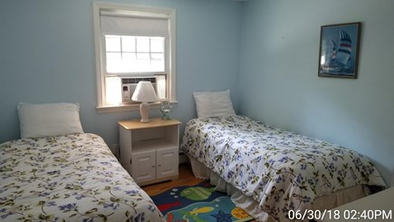 South Yarmouth Cape Cod vacation rental - Bedroom 2: twin beds (air condition in window)