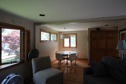 Wellfleet Cape Cod vacation rental - Living Room toward Dining