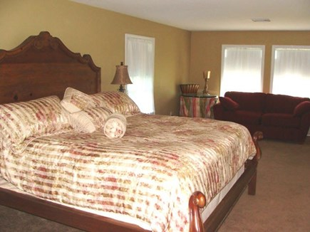 West Yarmouth Cape Cod vacation rental - Master bedroom with king bed and pullout sofa