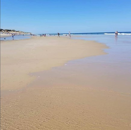 Eastham Cape Cod vacation rental - (Low tide) Campground beach just a short walk down the road!