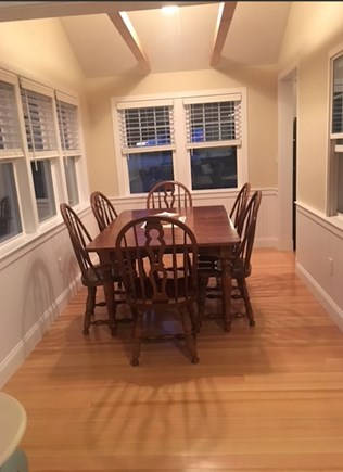 Eastham Cape Cod vacation rental - New dining room with beautiful exposed beams; plenty of room for