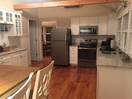 Eastham Cape Cod vacation rental - New kitchen with brand new stove, fridge, sink, granite counters