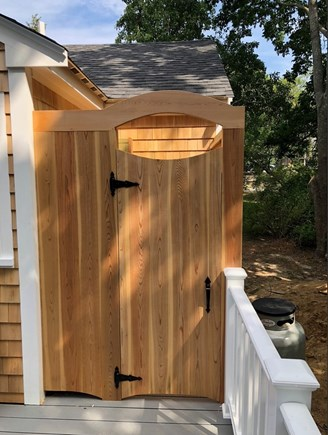 Eastham Cape Cod vacation rental - Brand new large cedar wood outdoor shower with changing area!