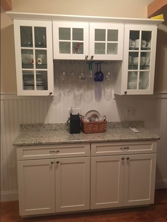 Eastham Cape Cod vacation rental - New small granite counter, perfect for serving some wine!