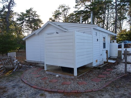 Wellfleet Cape Cod vacation rental - Enclosed outdoor shower at entry