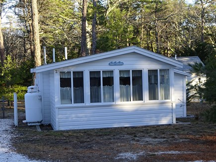 Wellfleet Cape Cod vacation rental - Park to left of cottage