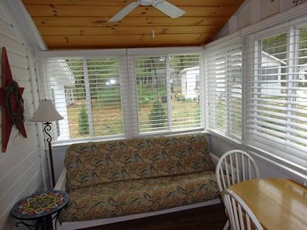 Wellfleet Cape Cod vacation rental - Futon couch in sunroomhigh ceiling & fan