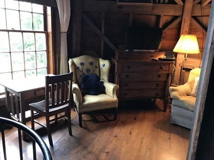 Woods Hole Woods Hole vacation rental - Second floor desk and TV and cozy reading chairs