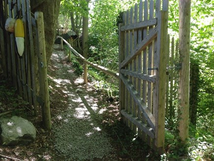 Woods Hole Woods Hole vacation rental - Gate from driveway leading up to the Windmill