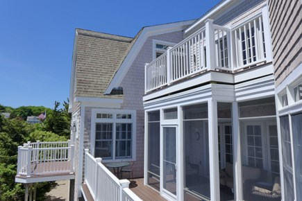 Orleans Cape Cod vacation rental - New AZEK decks looking over conservation area