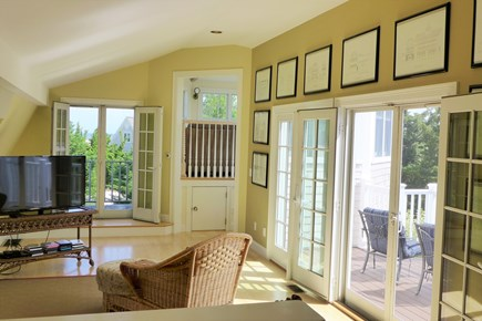 Orleans Cape Cod vacation rental - Upper level TV/Living area