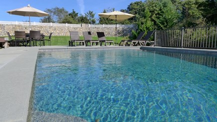 Orleans Cape Cod vacation rental - Private heated pool with infinity edge and waterfall feature
