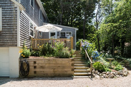 Chatham Cape Cod vacation rental - Entrance to the back door and patio area