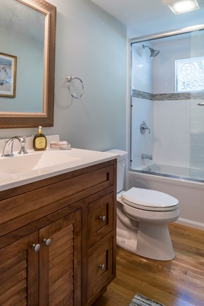 Chatham Cape Cod vacation rental - First floor bathroom with a tub/shower combination