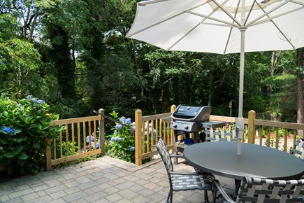 Chatham Cape Cod vacation rental - Brock patio area with outside seating and a gas grill