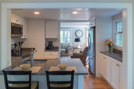 Chatham Cape Cod vacation rental - Kitchen with view looking in to the living room