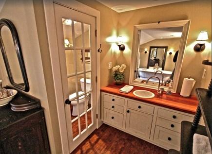 Sagamore Beach Sagamore Beach vacation rental - Luxurious master bathroom, private toilet room, mahogany vanity