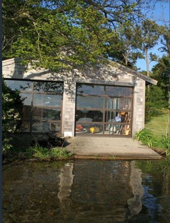 Sagamore Beach Sagamore Beach vacation rental - Exciting boathouse with glass doors stores your kayaks and canoe