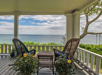 Plymouth, Manomet Bluffs MA vacation rental - Oceanfront wraparound porch, spectacular relaxation rain or shine