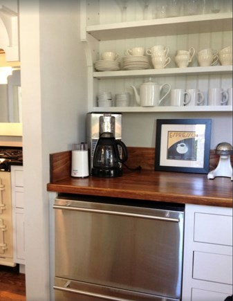 Plymouth, Manomet Bluffs MA vacation rental - Coffee pantry, Keurig, Mr Coffee, French Press, Drinks fridge