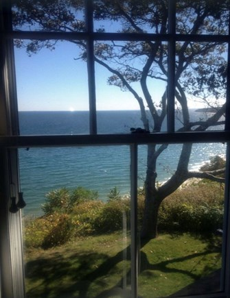 Plymouth, Manomet Bluffs MA vacation rental - Actual view from your oceanfront bedroom... enjoy!