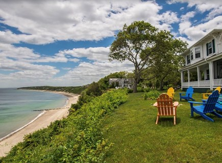 Plymouth, Manomet Bluffs MA vacation rental - Jaw-dropping vista with beach stairs from house