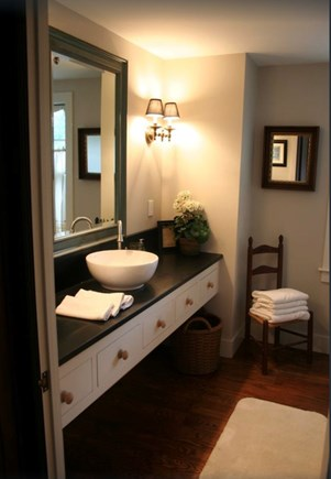 Plymouth, Manomet Bluffs MA vacation rental - Expansive granite countertop, subway tile shower with skylight