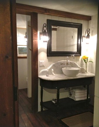 Sagamore Beach Sagamore Beach vacation rental - Another charming shower bathroom w marble vanity new shower