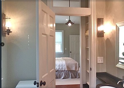 Plymouth Historic District MA vacation rental - View from shower, main floor master suite