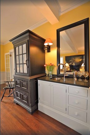 Plymouth Historic District MA vacation rental - Wet bar w SubZero custom pantry, 2 frid drawers, hidden microwave