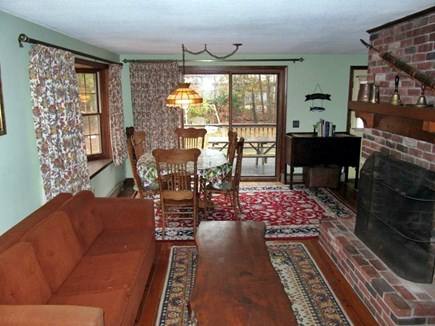 Eastham Cape Cod vacation rental - Living/Dining goes out to deck, dining table seats 8