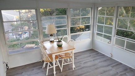 Chatham Cape Cod vacation rental - Enclosed porch for morning breakfast or enjoying reading