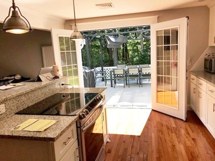 Dennis Port Cape Cod vacation rental - Beautiful view outside through the French doors on to the deck.